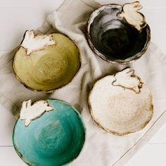 Etta B Pottery Easter Bunny Bowl