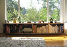 under window bookcase
