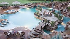 Check out the website and see the time lapse photography (slideshow) of this amazing backyard!!! ( by Lazy River Company)