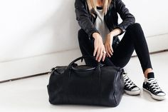 Succession through devine appointment, our very first unisex leather duffle has arrived. The outside stash pocket on the side makes for easy access to all your small stuff (wallet, phone, keys etc). Leather Duffle Bag, Pebbled Leather, Shoulder Strap, Unisex, Stylish, Casual, Bags, Fashion, Moda