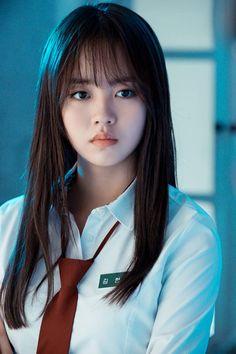 Kim So-hyun : Let's Fight Ghost (Korean Drama) Korean Beauty, Asian Beauty, Korean Bangs, Lets Fight Ghost, Bring It On Ghost, Kim Sohyun, Wispy Bangs, Kim Yoo Jung, Cute Asian Girls