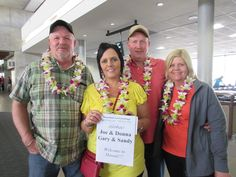 2/7/15:  Welcome to Hawaii Joe, Donna, Gary & Sandy.  Leilani was happy to see you since your flight was so delayed!  She had a great time talking to you all and making sure you made it alright to your shuttle.  Enjoy Hawaii! #lethawaiihappen   #leigreeting   #hawaii   #honolulu
