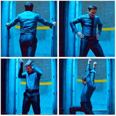 GIFset Apparently this is an actual thing Jeremy Renner does to warm up for a scene. Tom Cruise saw him doing it and made the director put it in the movie. Click through for bonus GIF.