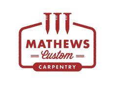 Mathews Carpentry logo by Ben Couvillion