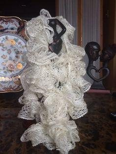 Hand crochet scarf $15.00