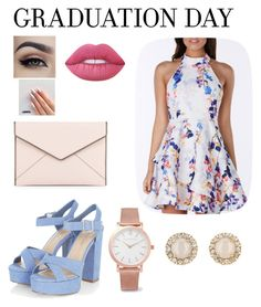 """Dress for the Future"" by beautylovesnia ❤ liked on Polyvore featuring Rebecca Minkoff, Larsson & Jennings, Kate Spade, Lime Crime and graduationdaydress"