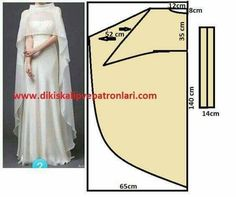 Discover thousands of images about Asimetrik Etek Pelerin Model ve Kalıpları Sewing Dress, Dress Sewing Patterns, Diy Dress, Sewing Clothes, Clothing Patterns, Abaya Pattern, Cape Pattern, Pattern Design, Fashion Sewing