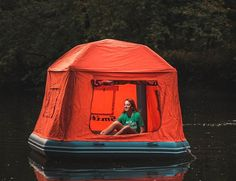 The Shoal tent is made for the life aquatic. As the first of its kind floating raft-tent, it allows you to camp literally on the water, turning lakes and ponds into the ultimate waterbed. It's got an inflatable frame, so set up is easy: just pump it up with the included foot pump. The floor is a 6