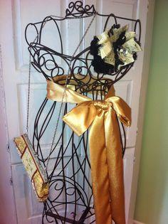 CUSTOM MADE Gold Sash/ Satin Sash/ Wedding by DolledandDazzled, $25.00