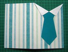 Hermosa tarjeta para el dia del padre con forma de camisa