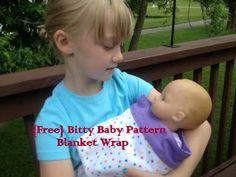 Free Pattern: Bitty Baby Wrap Blanket Swaddle - All Things With Purpose