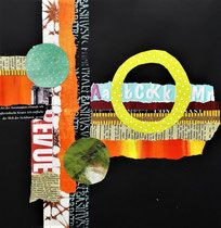 Collage 2018 - conny / Aquarelle,Collage,Pastell,Acryl,Mixed Media Paper Art, Paper Crafts, Colorful Abstract Art, Collage Art Mixed Media, Elements Of Design, Outsider Art, Elementary Art, Art Techniques, Form
