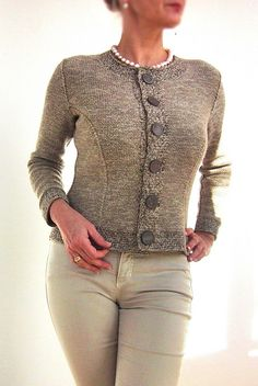 Ravelry: Nearly Chanel pattern by von Hinterm Stein, I love the big buttons...