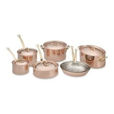 French Copper Sauce Pans