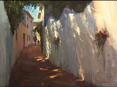 How to Create Dappled Shadow's in your Painting with Mike Rooney - YouTube