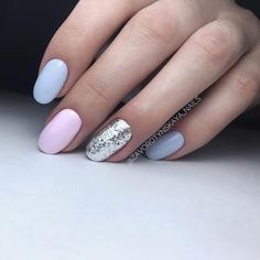 Nails summer pastel manicures ideas for 2019 Fancy Nails, Trendy Nails, Cute Nails, Spring Nails, Summer Nails, Gell Nails, Music Nails, Glitter Manicure, Formal Nails