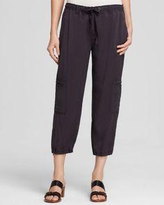 Eileen Fisher Drawstring Crop Cargo Pants - Bloomingdale's Exclusive