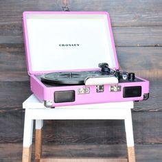 Crosley Cruiser Portable Turntable in pink