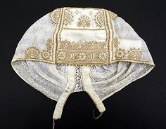 Cap.  Date: 19th century. Culture: Slovak. Medium: cotton.