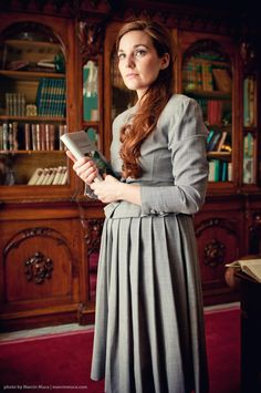 Librarian - photo of actress/model Maria done in Glenlo Abbey Hotel, Galway, Ireland