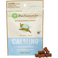 Pet Naturals of Vermont for anxious, nervous, dogs | We love these at All Breed Rescue VT. | Pet Naturals Calming Soft Chews for Dogs