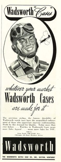Patriotic Jewelry Ads From 1942: Wadsworth Cases.