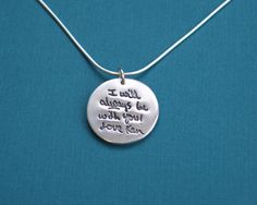 Memorial Necklace - A Loved One's Handwriting on Fine Silver - Personalized Necklace. $110.00, via Etsy.