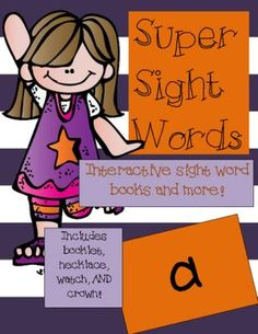 FREEBIE-+Super+Sight+Word+-+a+from+The+Kindergarten+Connection+on+TeachersNotebook.com+-++(14+pages)++-+Interactive+sight+word+book,+literacy+center+idea,+Dolch+Pre-Primer+Sight+Words+