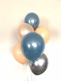 15 aqua marine ombre unique gamme Pearlised ballons de latex Qualité Hélium