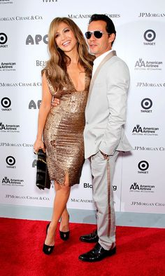 Jennifer Lopez And Husband Marc Anthony, 2010, husband #3 (was engaged to Ben Affleck before this marriage but they broke up before wedding) ~