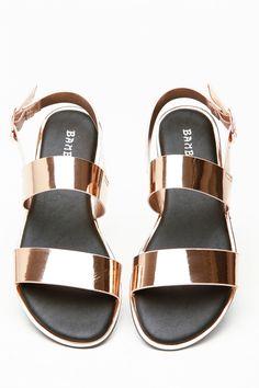 d38d6c8ea56ceb Rose Gold Faux Leather Multi Strap Sling Back Sandals   Cicihot Sandals  Shoes online store sale
