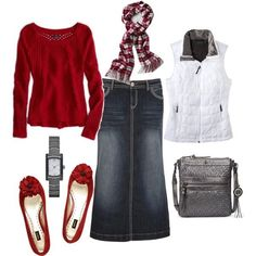 What to wear with red cardigan