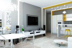 Дизайн-проект двушки, из которой сделали трешку. Главное изменение в планировке - это то, что перенесли кухню в жилую комнату... Да-да, знаю, что так нельзя. Но в…