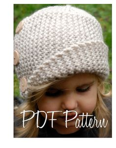 this hat is adorable, can be knit in baby, toddler AND adult sizes.