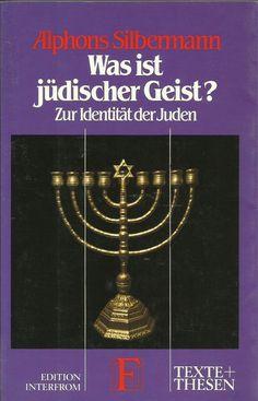 Was ist jüdischer Geist ? Zur Identität der Juden von Alphons Silbermann Religion, Gold Necklace, Ghosts, Faith, Politics, Gold Pendant Necklace, Religious Education