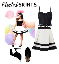 """""""A.G."""" by htx-hyzel ❤ liked on Polyvore featuring Lipsy, Tory Burch and pleatedskirts"""