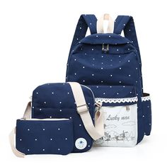 Like and Share if you want this  Korean Printed Bag     Tag a friend who would love this!     FREE Shipping Worldwide     Buy one here---> https://www.accessory.sg/new-korean-women-backpack-three-set-casual-printing-school-bag-female-canvas-backpacks-for-teenage-girls-travel-bags-mochila/    #womensfashion