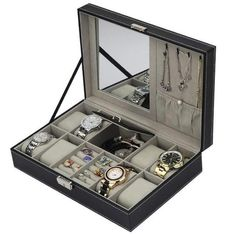b9be028db Discover our PU Leather Watch Box Jewelry Case Multifunctional, and BUY now  from