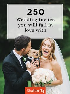 Browse 250 wedding invitation designs to find one the two of you will love. Express your personality with fresh, stylish cards for the perfect way to announce, invite and celebrate. | Shutterfly
