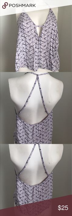 Urban Outfitters Light Purple Tank Cute tank by Silence + Noise from Urban Outfitters. Allover dark and light purple pattern. Straps are adjustable and cross in the back. Urban Outfitters Tops
