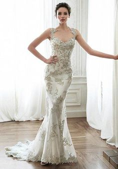 Sweetheart gown with bead embroidered lace I Style: Jade I by Maggie Sottero I https://www.theknot.com/fashion/jade-maggie-sottero-wedding-dress?utm_source=pinterest.com&utm_medium=social&utm_content=aug2016&utm_campaign=beauty-fashion&utm_simplereach=?sr_share=pinterest