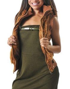 (CLICK IMAGE TWICE FOR DETAILS AND PRICING) Faux Fur Distressed Hoodie Vest Tan. Wear this vest with your favorite jeans or leggings and keep warm in the upcoming fall_winter months.  Featuring a drawstring hoodie and a ribbed waist and sleeves.. See More Coats and Jackets at http://www.ourgreatshop.com/Coats-and-Jackets-C76.aspx