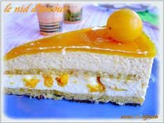 LE NID D'AMOUR: entremet mirabelle, chocolat blanc Dessert Thermomix, Cheesecake, Gluten Free Vegetarian Recipes, Mousse Cake, Vanilla Cake, Dessert Recipes, Fruit, Cooking, Fiesta Cake
