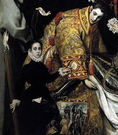 """""""Domenico Theotocopuli 1578 Personajes en El entierro del Conde Orgaz de El Greco"""
