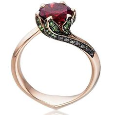 cool 27 Rose Gold Engagement Ring with Black Diamond  https://viscawedding.com/2017/04/15/rose-gold-engagement-ring-black-diamond/