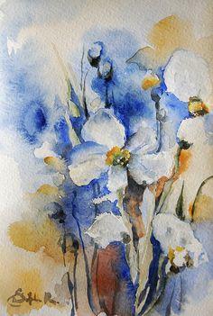 Flowers Watercolor Painting - Sophia Rodionov