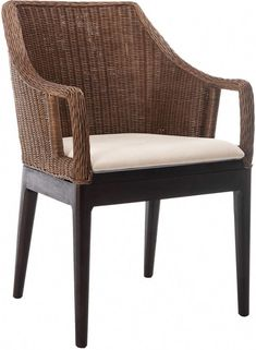 Palmetto All Weather Wicker Armchair Black At Pottery