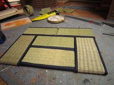 Tutorial showing the final 6 tatami that need to be placed in the next room. #japanese #ryokan #dollhouse