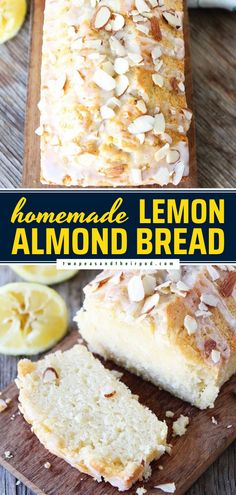 Say hello to your new favorite quick bread! This Lemon Almond Bread recipe is out of this world good. Bake up this super moist loaf cake for a Mother's Day brunch idea and enjoy one slice after another!