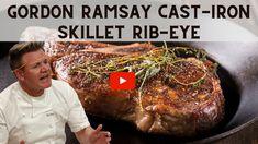Gordon Ramsey Steak, Cast Iron Skillet Steak, Steak Recipes, Cooking Recipes, Cooking Ribeye Steak, Cooking The Perfect Steak, Cast Iron Recipes, Cast Iron Cooking, How To Cook Steak